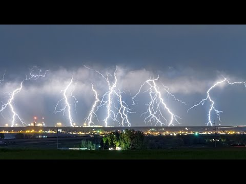 Fantastic Lightning Thunderstorm Show NE Colorado