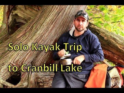 Solo kayak trip to Cranebill Lake