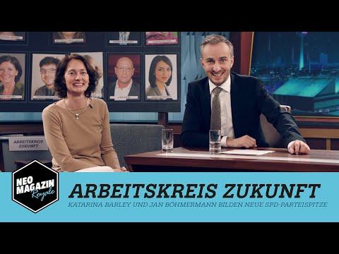 Arbeitskreis Zukunft: Katarina Barley und Jan Böhmermann bilden neue SPD-Parteispitze