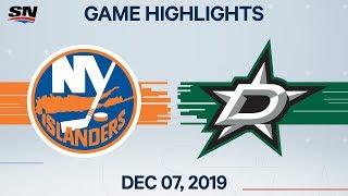 NHL Highlights   Islanders vs Stars – Dec. 7, 2019