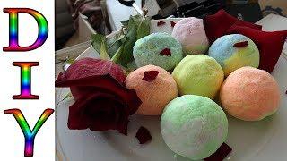 DIY Бомбочки для ванны с лепестками роз | Bombs for bath with rose petals