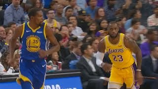 Kevin Durant Shows LeBron James His Pull Up Jump Shot Can't Be Guarded! Lakers vs Warriors