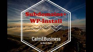Webgo Subdomain anlegen und Wordpress installieren