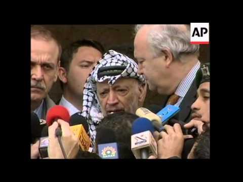 Arafat meets EU envoy Moratinos