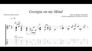 Fingerstyle Guitar - Georgia on my Mind (From Jazz Tunes Vol.1, Nr.9)