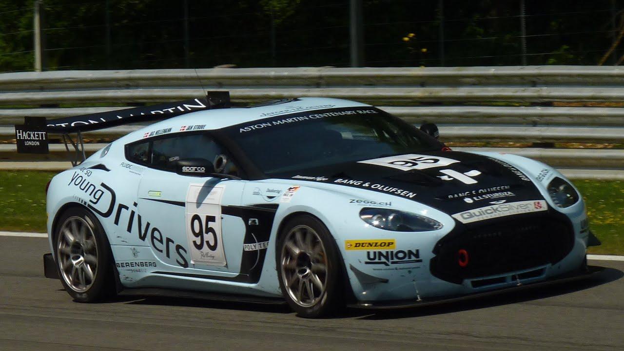 Aston Martin V12 Zagato Race Car Sound Youtube