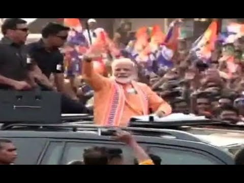 Modi in Varanasi: PM Begins Roadshow Amid Sea of Saffron