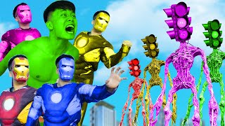 Hulk, Team IronMan Vs Angry Traffic Light Head - BigGreenTV