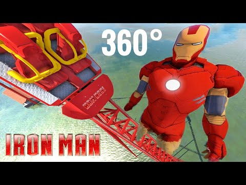 Avengers Iron Man 360 VR Video Roller Coaster Google Cardboard SBS Water Ride POV