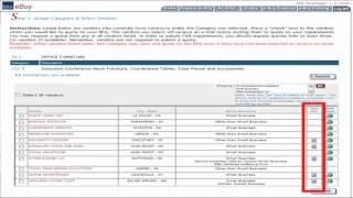GSA Training: eBuy Selecting Categories and Vendors (3 of 10)