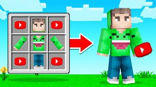 CRAFTING YouTubers In MINECRAFT!