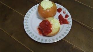 Яблоки запеченные с творогом - кулинарный рецепт