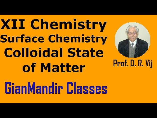 XII Chemistry | Surface Chemistry | Colloidal State of Matter by Gourav Sir