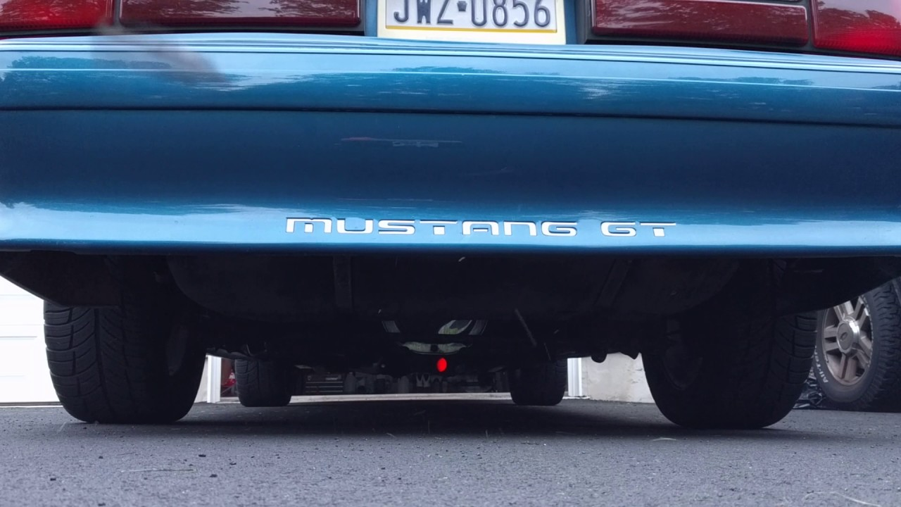 1991 Fox Body Gt Exhaust Clip And Msd 2 Step Youtube