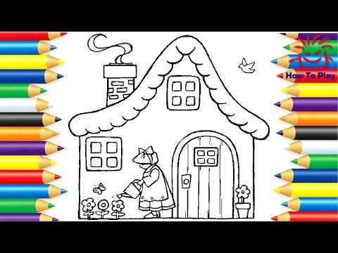 رسم وتلوين منزل How To Play Drawing And Coloring Home Youtube