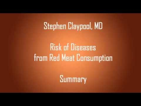 Summary of Health Risks from Red Meat Consumption