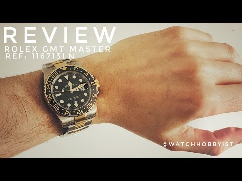 REVIEW: Rolex GMT 116713 Black and Yellow Gold Ceramic watch