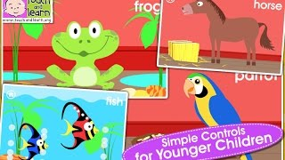 Learn Animals Names Educational Game for Kids and toddlers