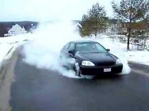 Honda Civic Si Burnout Youtube