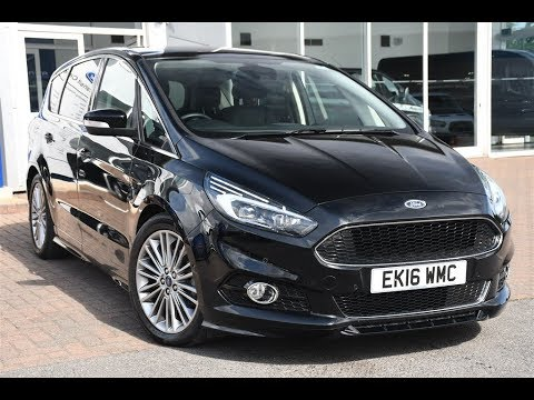 used ford s max 2 0 tdci 210 titanium sport 5dr powershift shadow black 2016 youtube. Black Bedroom Furniture Sets. Home Design Ideas