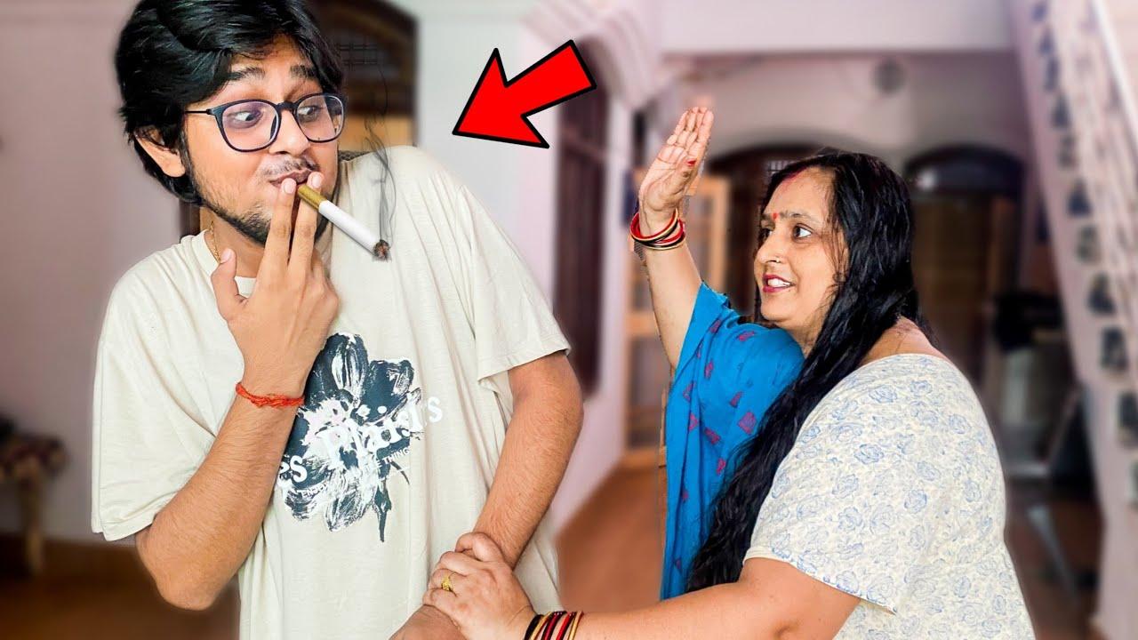 CIGARETTE prank on MOM!   Vlog - Rachitroo