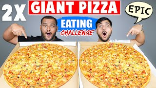 2 X Big Pizza Eating Challenge | Epic Soda Can Challenge | Food Competition | Viwa Food World