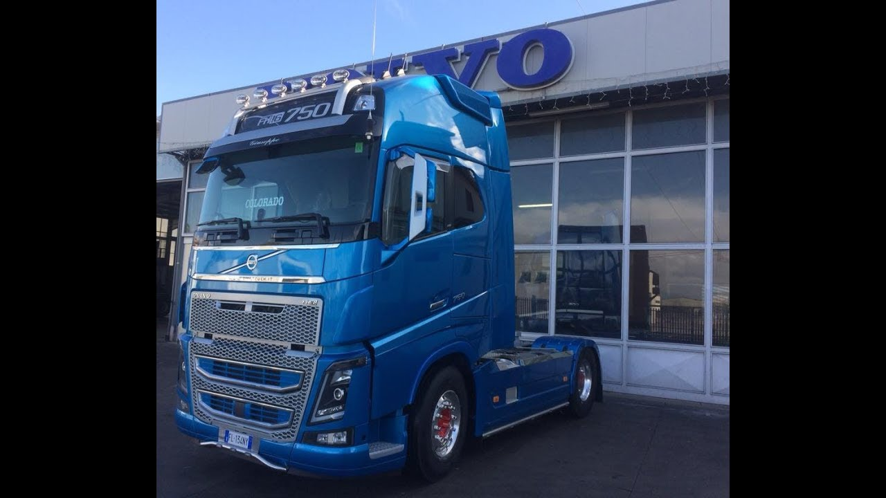 2018 Volvo Trucks FH 16 700,750 Globetrotter XL Blue Edition Exterior - YouTube
