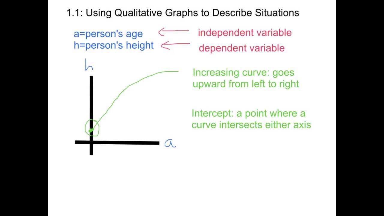 1.1: Using Qualitative Graphs to Describe Situations - YouTube Qualitative Data Graph Example