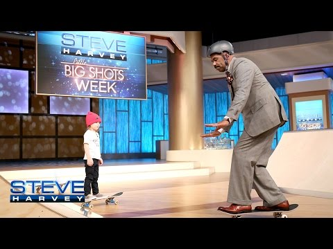 Little Big Shots: Who wants to see Steve skateboard? || STEVE HARVEY