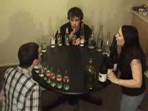 Tetris A Theme on Glass Bottles