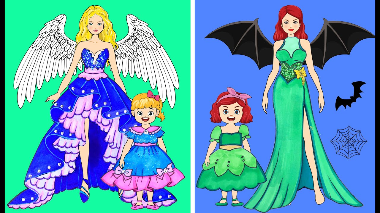 [DIY] Paper Dolls Win on Beauty Contest! The Most Beautiful Dresses Handmade Papercrafts