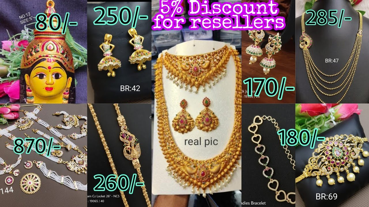 Imitation jewellery with best prices  5%Additional discount for resellers and stockists Low prices