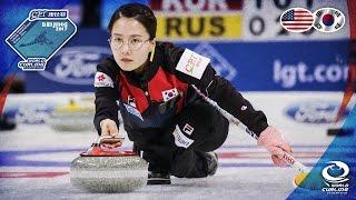 USA v Korea - CPT World Women's Curling Championship 2017