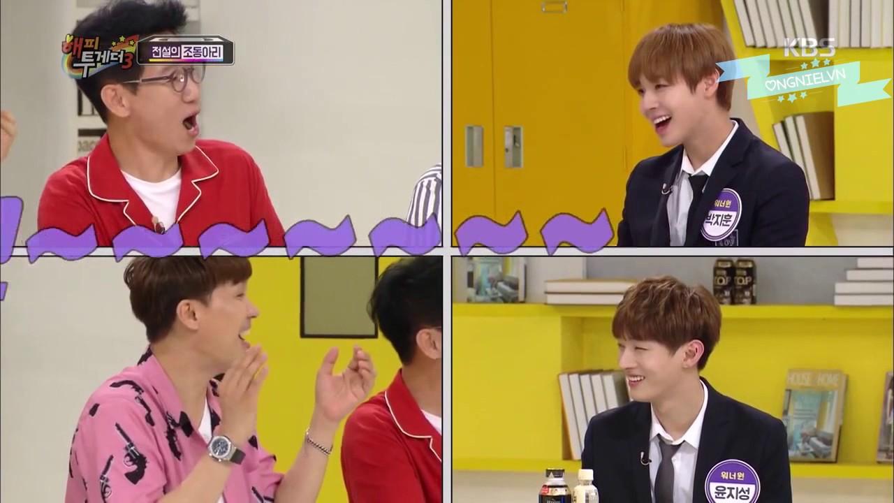 [Vietsub] Yoo Shi Niel và công cuộc xoa dịu Kang Mo Ong (Happy Together 3 – Wanna One Cut)