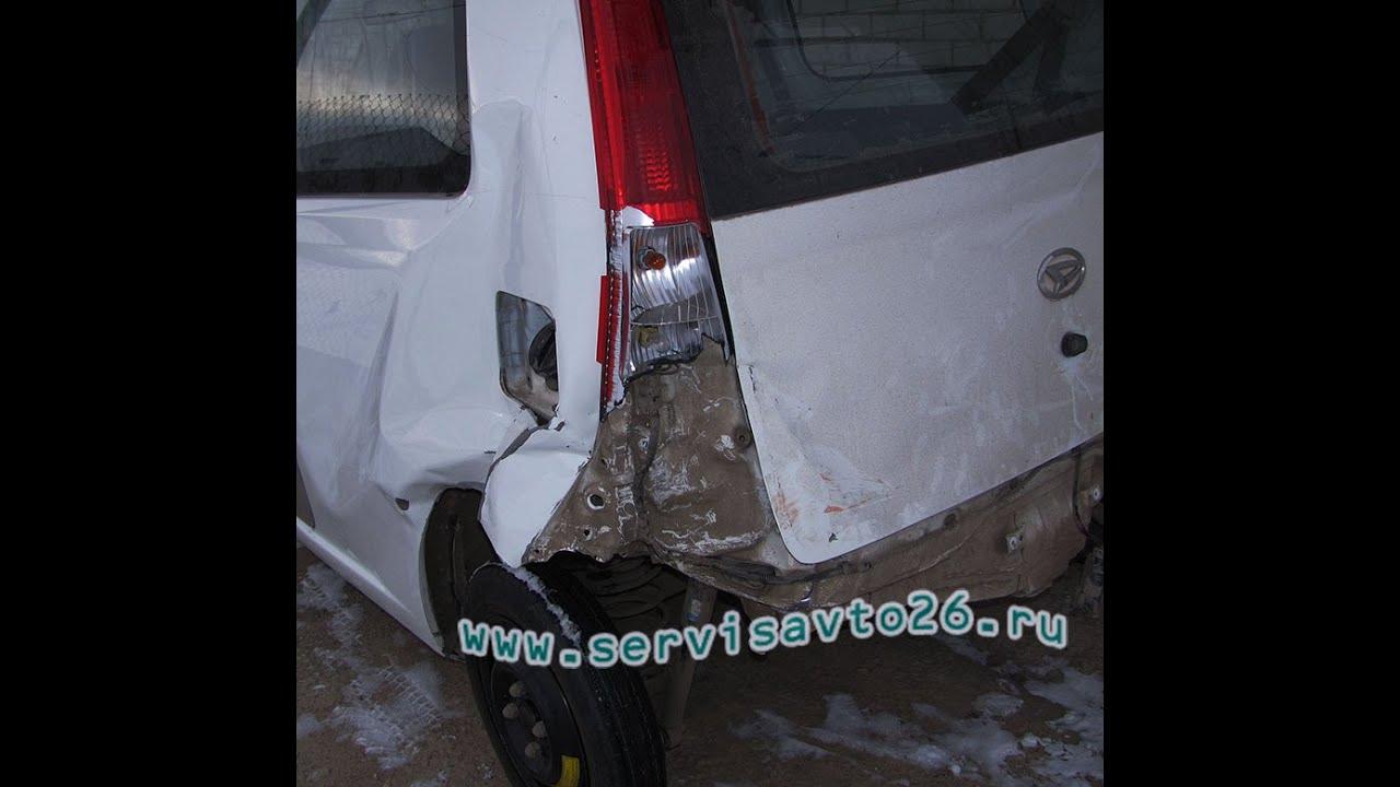 Daihatsu Auto body repair сложный перекос кузова