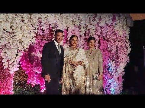 Rekha, Akshay, Aishwarya, Abhishek & others attend Akash Ambani, Shloka Mehta's wedding reception