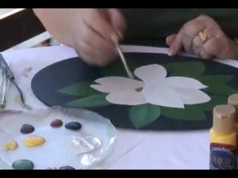 Pintura decorativa como pintar una magnolia youtube - Como pintar bien una pared ...