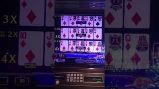 Ultimate X video poker at the Atlantis. Royal Flush X4