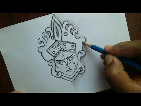 navratri-pencil-drawing-for-kids-/-how-to-draw-a-navratri-drawing-pictures