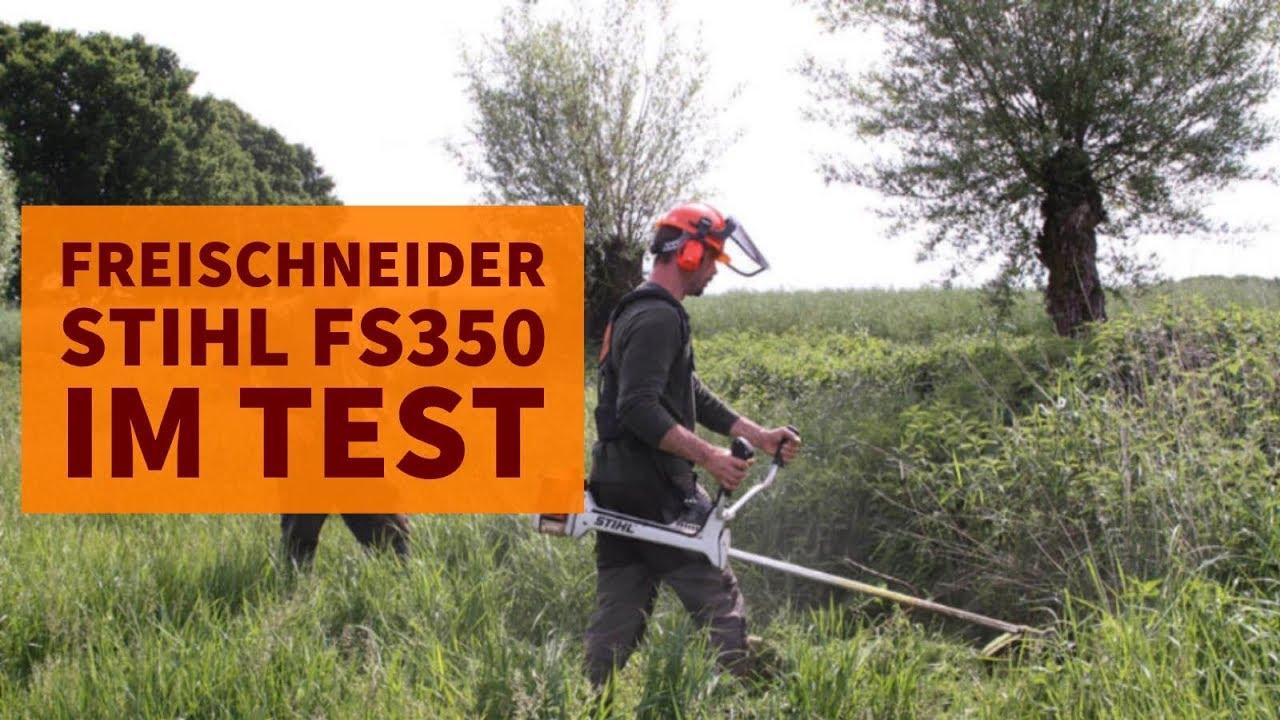 freischneider im revier richtig benutzen: stihl fs350 im test