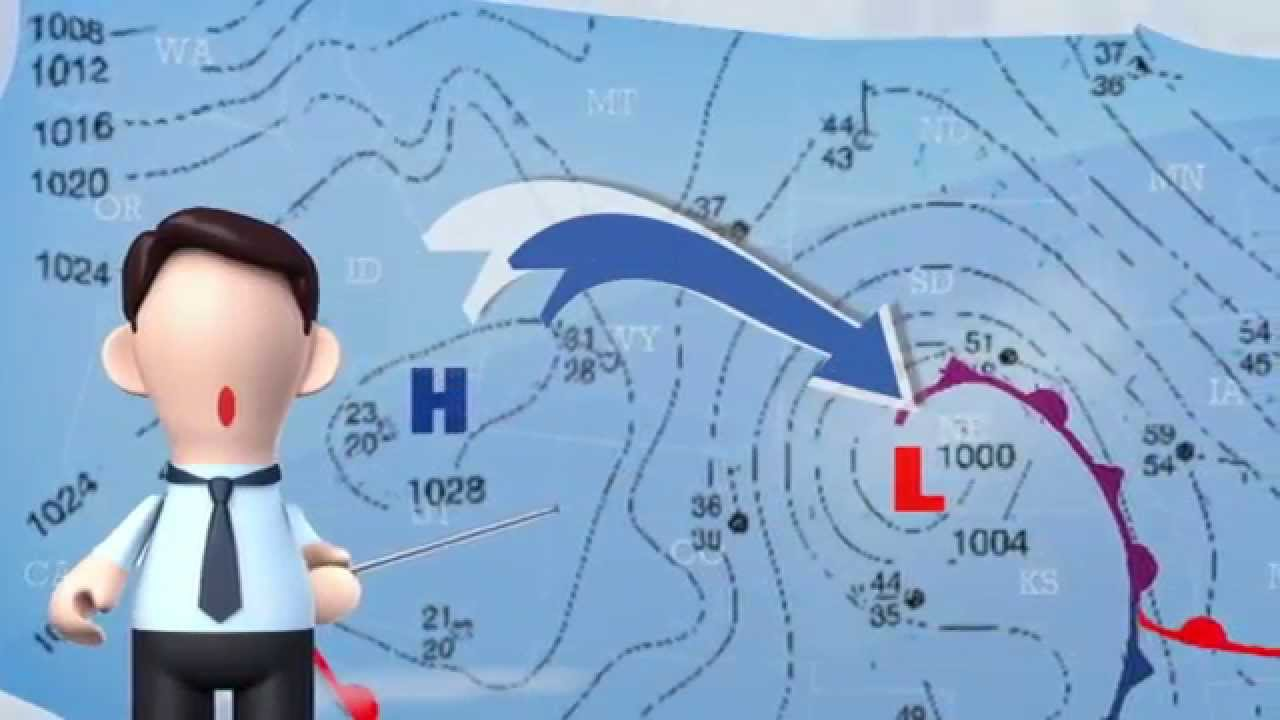 How to Read a Weather Map - YouTube [ 720 x 1280 Pixel ]