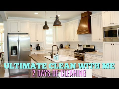ULTIMATE CLEAN WITH ME // WHOLE HOUSE CLEANING // ENTIRE HOUSE CLEAN WITH ME 2018