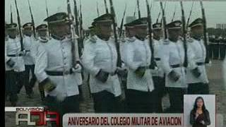Aniversario del Colegio Militar de Aviación en Santa Cruz