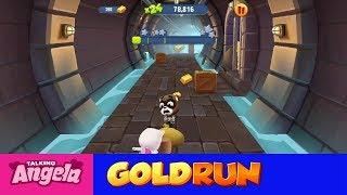My Talking Angela Gold Run Play for Children Full Episode #8