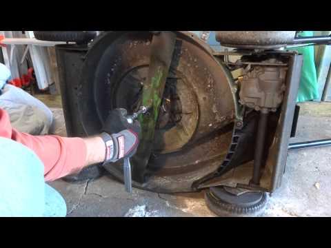 John Deere Jx75 Lawn Mower Blade Installation Youtube
