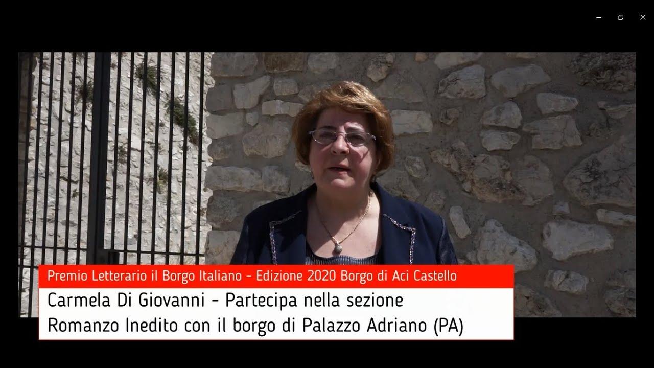 Carmela Di Giovanni per Palazzo Adriano su Premio Letterario il Borgo Italiano TV