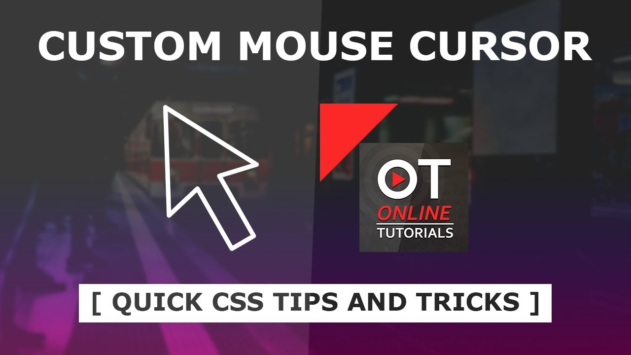 How to Create Custom Cursor Using Html and CSS - Custom Mouse Cursor in CSS  - Quick Tips and Tricks