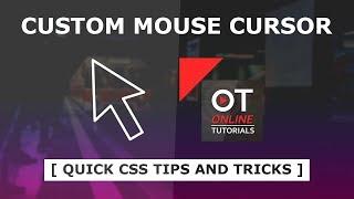 كيفية إنشاء مخصص المؤشر باستخدام Html و CSS مخصص الماوس في CSS - نصائح سريعة و الحيل