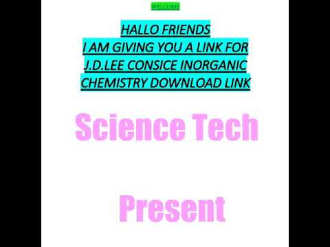 Lee jd ebook free by chemistry inorganic download concise