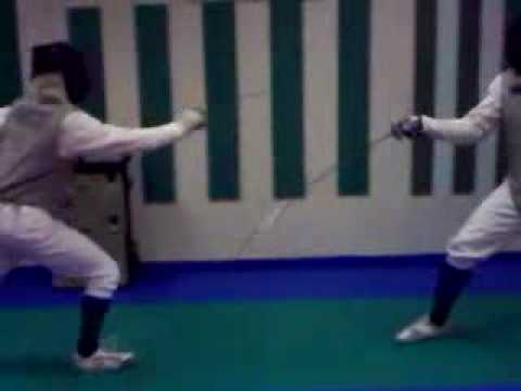 Practice at Cracovia School of Foil Fencing (Slow Motion)